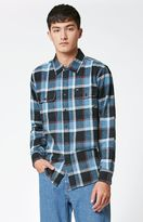 Obey Gower Plaid Flannel Long Sleeve Button Up Shirt