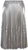 N°21 No21 Embellished Pleated Midi Skirt