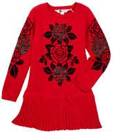 Petit Lem Rose Knit Dress (Toddler & Little Girls)