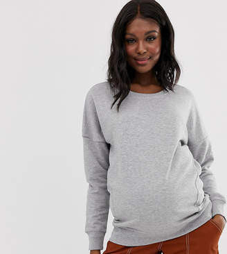 New Look Maternity classic sweatshirt-Grey
