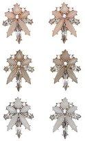 Charlotte Russe Gemstone Cluster Stud Earrings - 3 Pack