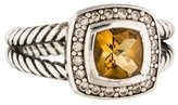 David Yurman Citrine & Diamond Petite Albion Ring