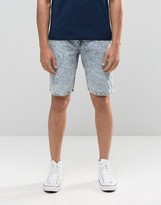 Bellfield Denim Shorts in Acid Wash