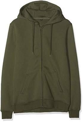 Build Your Brand Men's Heavy Zip Hoody Jacket,Large