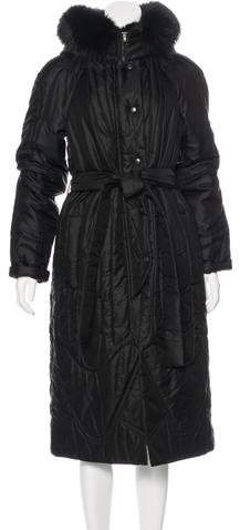 Charles Chang-Lima Fox Fur-Trimmed Quilted Coat