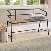Laurèl Idell Metal and Wood Bench Foundry Modern Farmhouse