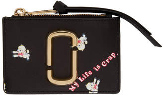Marc Jacobs Black Magda Archer Edition Snapshot Top Zip Wallet
