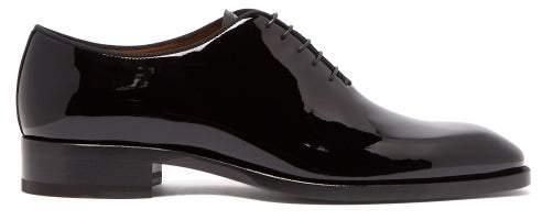 d87019c1493 Corteo Patent Leather Derby Shoes - Mens - Black