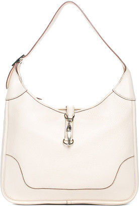Hermes Cream Clemence Leather Trim Ii 38