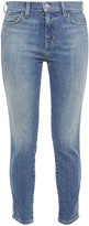 Thumbnail for your product : Current/Elliott The Caballo Cropped Faded Mid-rise Skinny Jeans