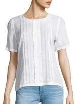AG Jeans Fay Pleated Blouse