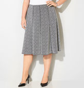 Avenue Jacquard Pattern Seamed Skirt