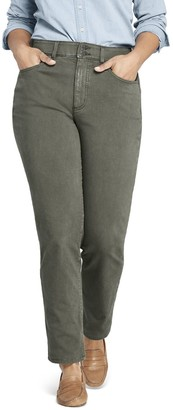 Lands' End Plus Size High-Rise Shaping Straight-Leg Jeans