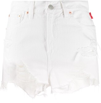 Denimist Distressed Denim Shorts