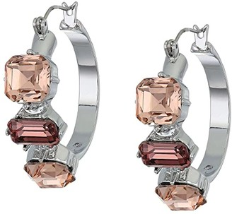 Vince Camuto Jewelry Hoops Earrings (Rhodium/Blush Rose/Vintage Mauve/Black Diamond) Earring