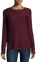 Neiman Marcus Ribbed Bateau-Neck Sweater