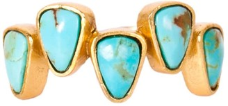 Christina Greene Stepping Stones Ring In Turquoise