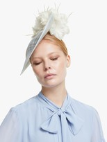 Bundle MacLaren Millinery Gina Side Disc Occasion Hat, Bluebell/Ivory