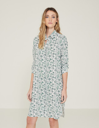 Yerse - Batik-Print Shirt Dress - S .