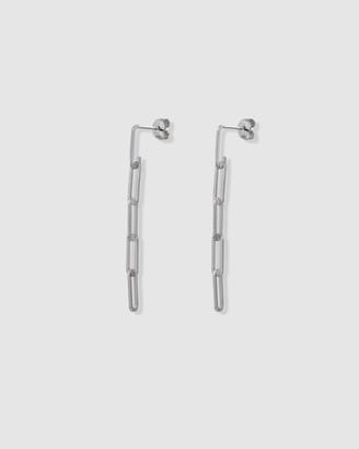 Ca Jewellery Link Chain Drop Earrings Silver