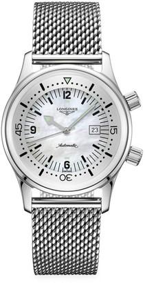 Longines Legend Diver Stainless Steel Mesh Bracelet Watch