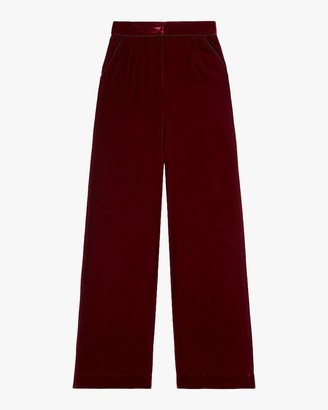 SLEEPING WITH JACQUES High-Waisted Velvet Pants