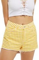 Topshop Women's Gingham Mom Shorts