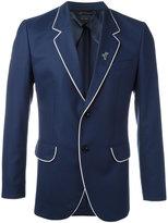 Marc Jacobs contrast trim blazer - men - Cotton/Viscose/Virgin Wool - 48