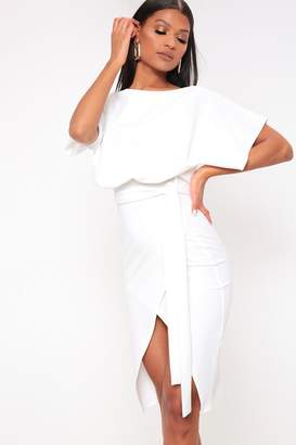 I SAW IT FIRST White Belted Midi Dress