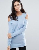 Fashion Union Cold Shoulder Sweater