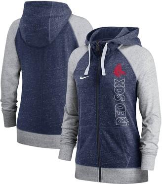 Nike Women's Navy Boston Red Sox In Pocket Gym Vintage Full-Zip Hoodie