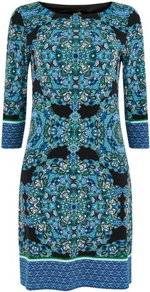 Wallis Blue Paisley Print Shift Dress