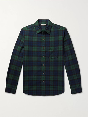 Alex Mill Checked Cotton-Flannel Shirt - Men - Green