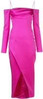 Rasario Cold-Shoulder Front Slit Dress