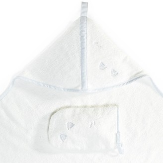 Stokke Hooded Organic Cotton Towel Blue Sea