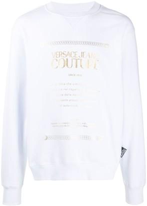 Versace Crew Neck Logo-Print Sweatshirt