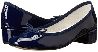 Repetto Camille (Patent Navy) Women's 1-2 inch heel Shoes