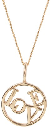 Katie Mullally Love Medallion Rose Gold Plated Necklace