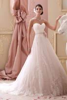 David Tutera for Mon Cheri Lace A-Line Gown