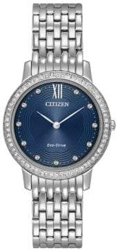 Citizen Eco-Drive Swarovski Crystal & Stainless Steel Watch