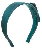 Miu Miu Satin Bow-Accented Headband