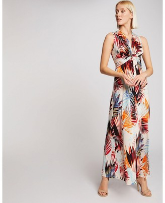 Morgan Tropical Print Maxi Dress
