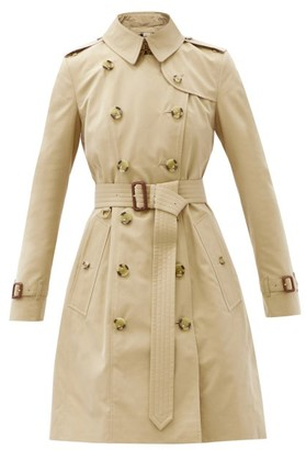 Burberry Chelsea Mid-length Cotton-gabardine Trench Coat - Beige