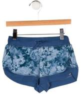 Stella McCartney Girls' Knit Floral Print Shorts