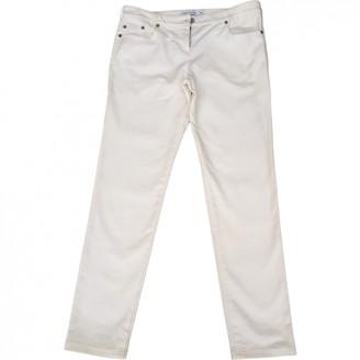 Christian Dior White Cotton Jeans