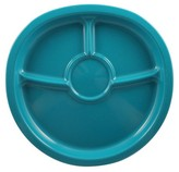 NUK Kids Divided Plate 7in Recycled Plastic Set of 2 - Green & Red