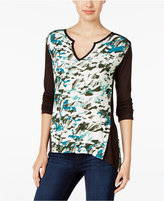 Calvin Klein Jeans Colorblocked Printed Top
