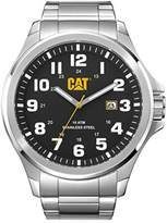 Caterpillar CAT Operator Men's Quartz Watch with Black Dial Analogue Display and Silver Stainless Steel Bracelet PU.141.11.111