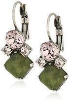 Sorrelli Army Girl Gingham French Wire Drop Earrings