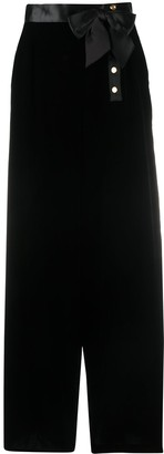 Chanel Pre Owned 1990s Bow Detail Maxi Skirt
